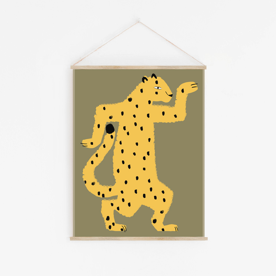 Shandor tenture murale gaspard le guepard decoration enfant jungle