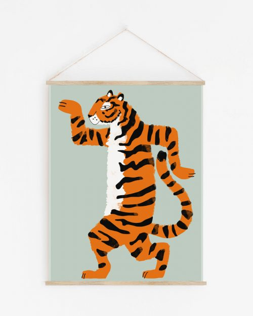 Shandor tenture murale tigre Aristide le tigre