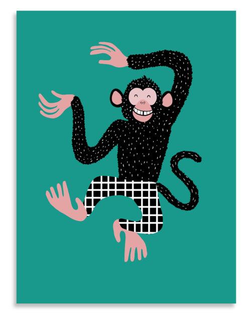 Affiche enfant barnabé le chimpanzé