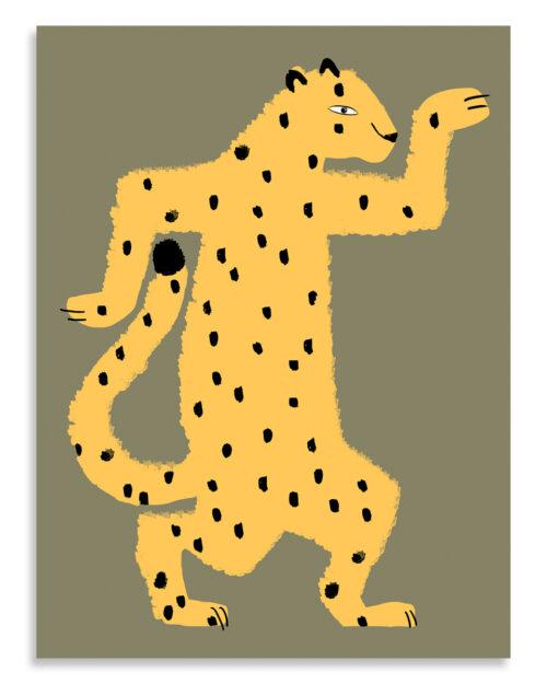 Affiche gaspard le guepard