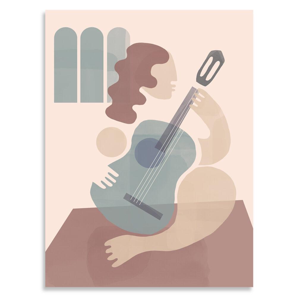 Affiche la guitariste shandor