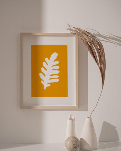 Poster Ocher leaf Shandor Made in France