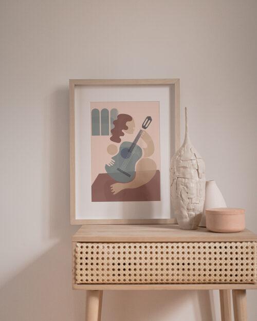 Affiche la guitariste