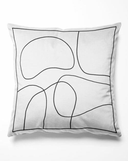 Cushion outline black and white