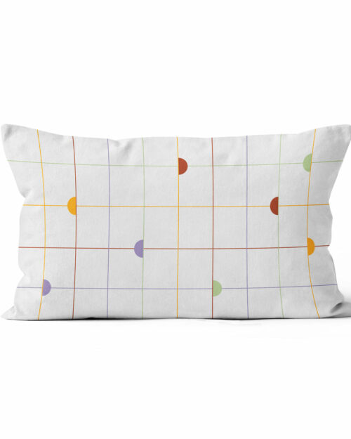 Velvet cushion color and quadrille
