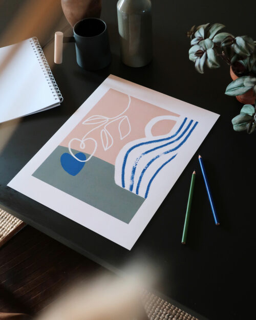 Shandor affiche amour falling in love, impression sur papier d'art, édition signée, made in France